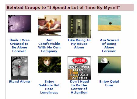 being alone groups