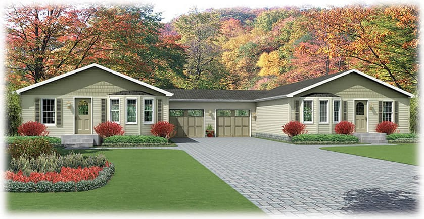 Senior modular homes communities for Modular duplexes